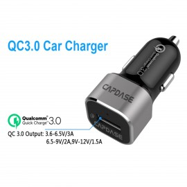 Capdase QC 3.0 Car Charger Rover Solo 1P18 (Black/Silver)